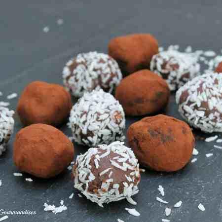 easy chocolate truffles - dairy-free, gluten-free, vegan - Valises & Gourmandises