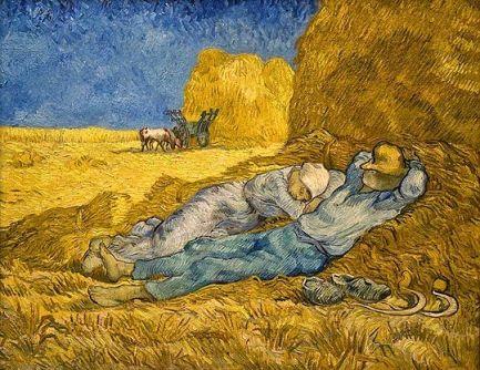 La siesta, por Van Gogh. 1890