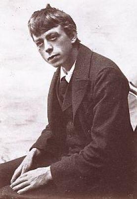 El escritor suizo Robert Walser de joven.