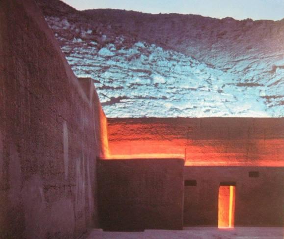 Foto del Centro Ceremonial arqueológico de Puruchuco al atardecer. Crédito de la foto José Casals
