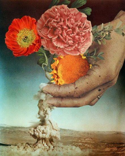 """""""Flowers"""". Collage por Miranda Guerrero"""