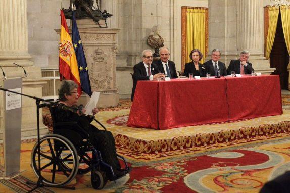 La poeta Claribel Alegría recibiendo el prestigioso XXVI Premio Reina Sofía de Poesía Iberoamericana (2017).