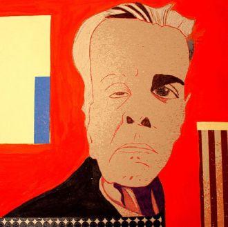 Caricatura de Jorge Luis Borges