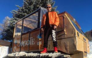 Il rapper Salmo a Sestriere (foto da Instagram)