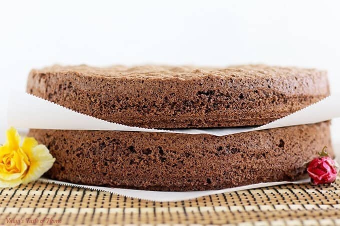 How to make chocolate sponge cake valya 39 s taste of home for Chocolate sponge ingredients