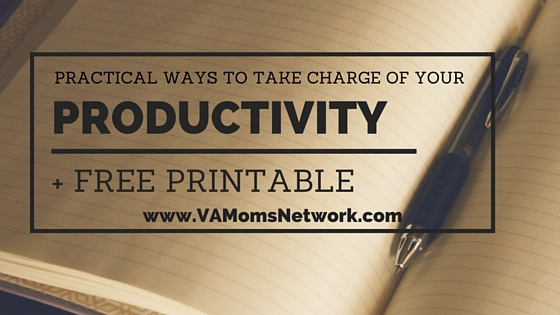 Productivity Hacks for Work at Home Moms + Free Printable