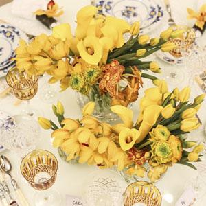 detalhe mesa amarela