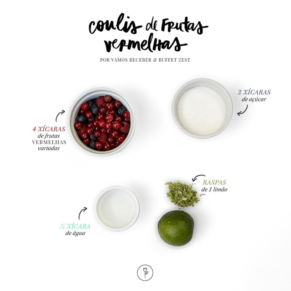 receita de coulis de frutas vermelhas