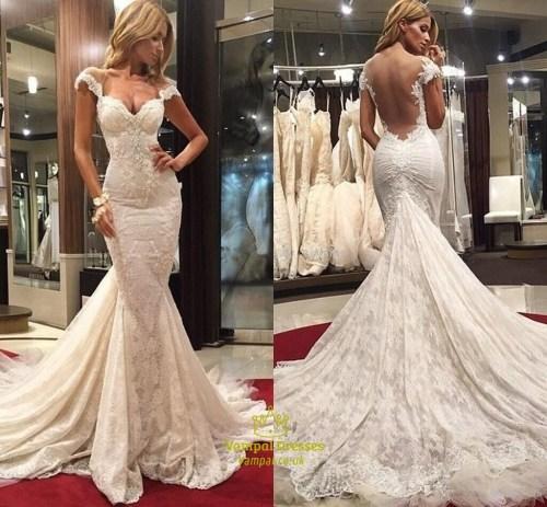Medium Of Wedding Dress Train