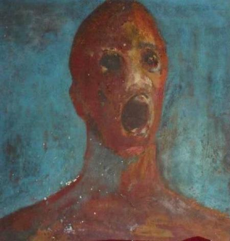 anguished man
