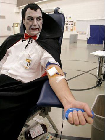 vampire donating blood
