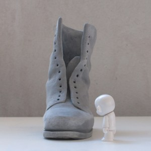 sculpture of old boot