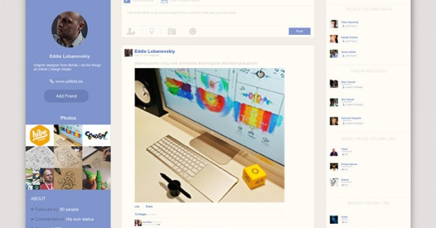 Facebook News Feed Redesign Concepts