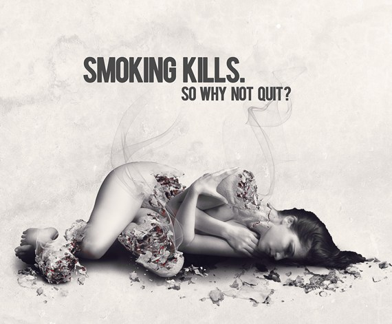 How to Create an Anti-Smoking Ad Concept with Photoshop