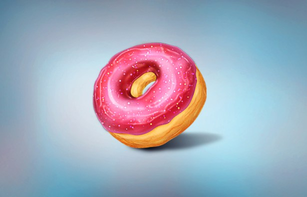 Illustrate a Donut in Photoshop