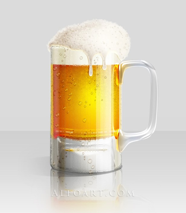 How to Illustrate a Cold Glass of Beer in Photoshop
