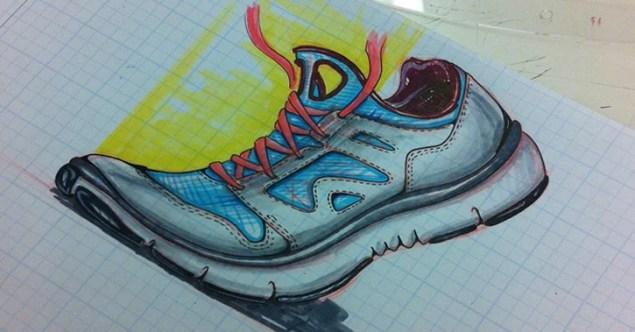 amazing sneaker sketch
