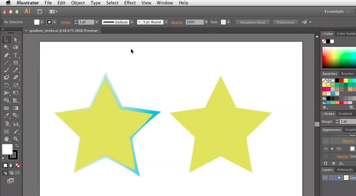 Illustrator CS6: Adding Gradients to Strokes Lines