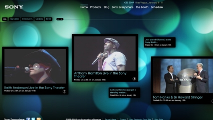 Websites with Lighting Effects