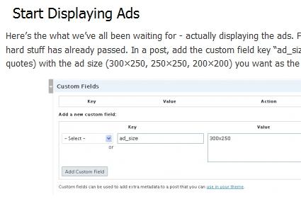 Display Inline Ads