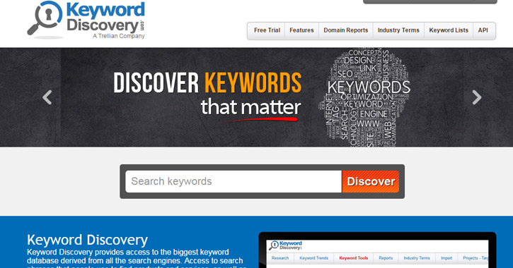 keyword webapp website