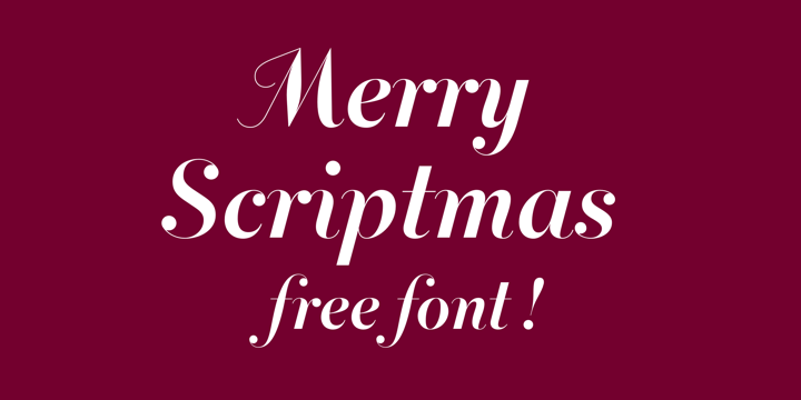 Merry Scriptmas Calligraphy Font