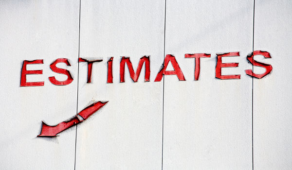 Photo of a sign for estimates.