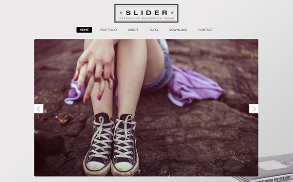 Slider Portfolio Free Responsive WordPress Theme