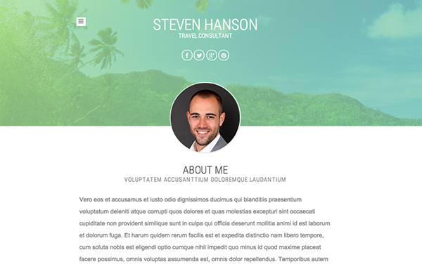 Travel Consultant Free Responsive Template