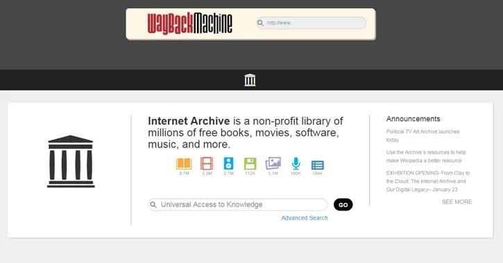 wayback machine website