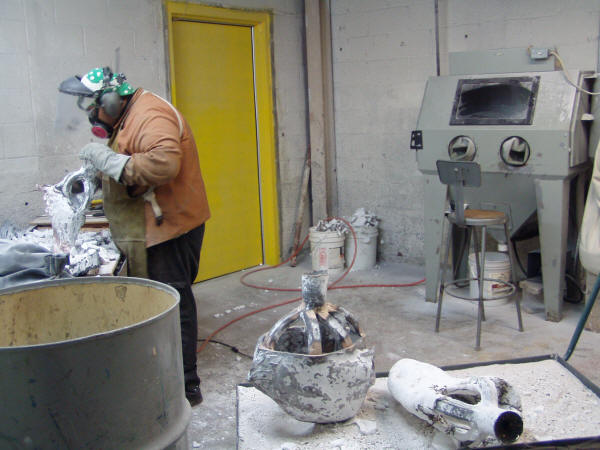 Devesting Bronze Castings