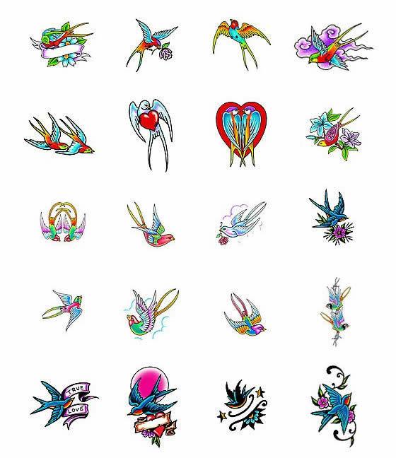 Эскизы птиц тату