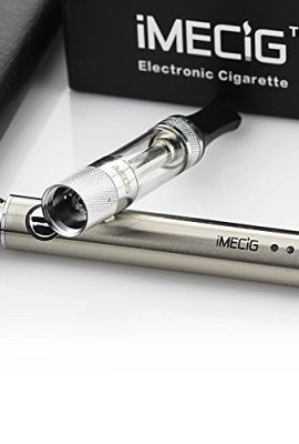 IMECIG-L1-Electronic-Cigarette-Vaping-with-LED-Battery-Rechargeable-E-Cig-Atomizer-Coil-without-E-Liquid-Juice-E-Cigarette-Starter-Kit-Vaporiser-Case-No-Nicotine-0-5