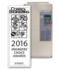 El U1000 de Yaskawa gana el premio 2016 Engineers' Choice Award