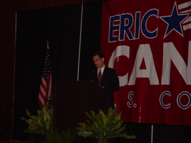 Eric Cantor Speaking at Breakfast