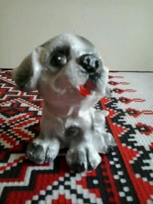 щенок серый 8 см