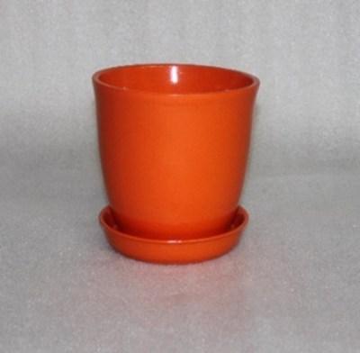 цветочный горшок Глория глянец оранжевый