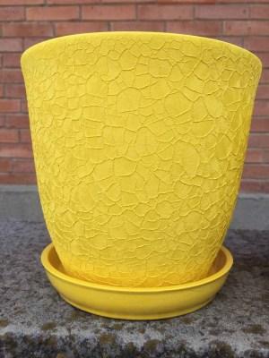 цветочный горшок Глория шелкография желтый