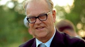 Tage Erlander, former Swedish Primer Minister