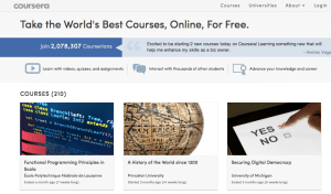 Coursera is  a social entrepreneurship company that partners with the top universities in the world to offer courses online for anyone to take, for free.