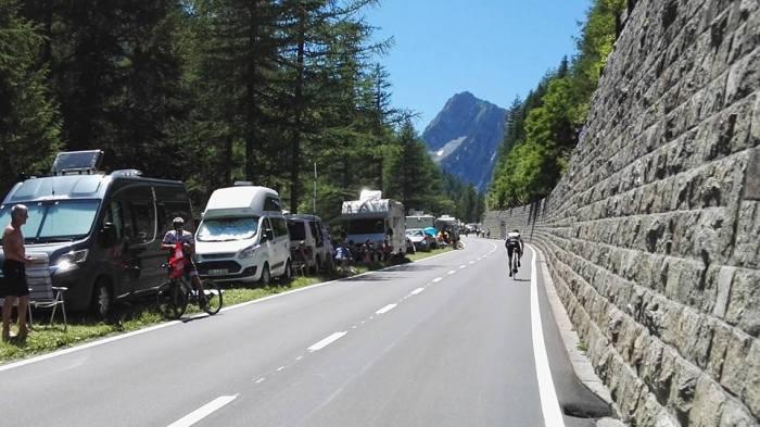 Der harte Aufstieg auf den Col de la Forclaz