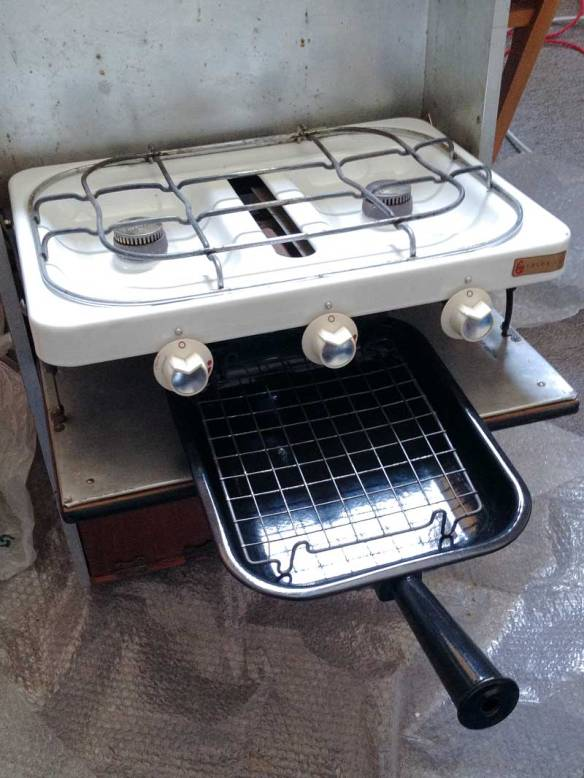 original Canterbury Pitt 2 ring cooker, grill and grill pan