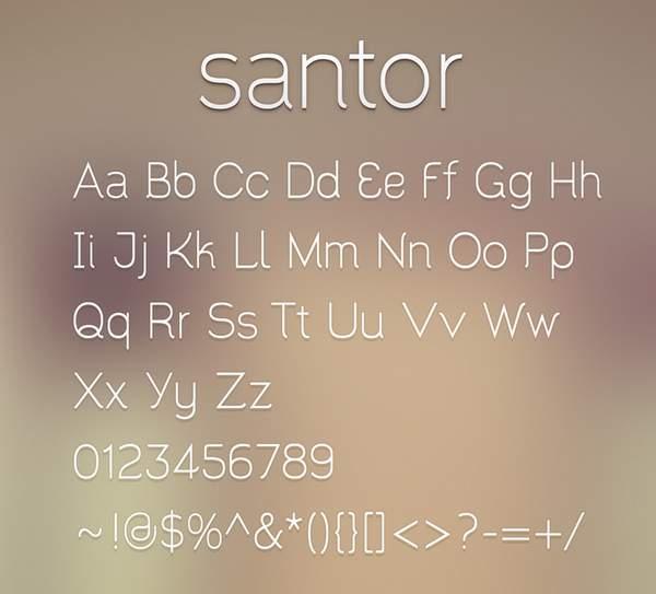 Santor Font Free Download