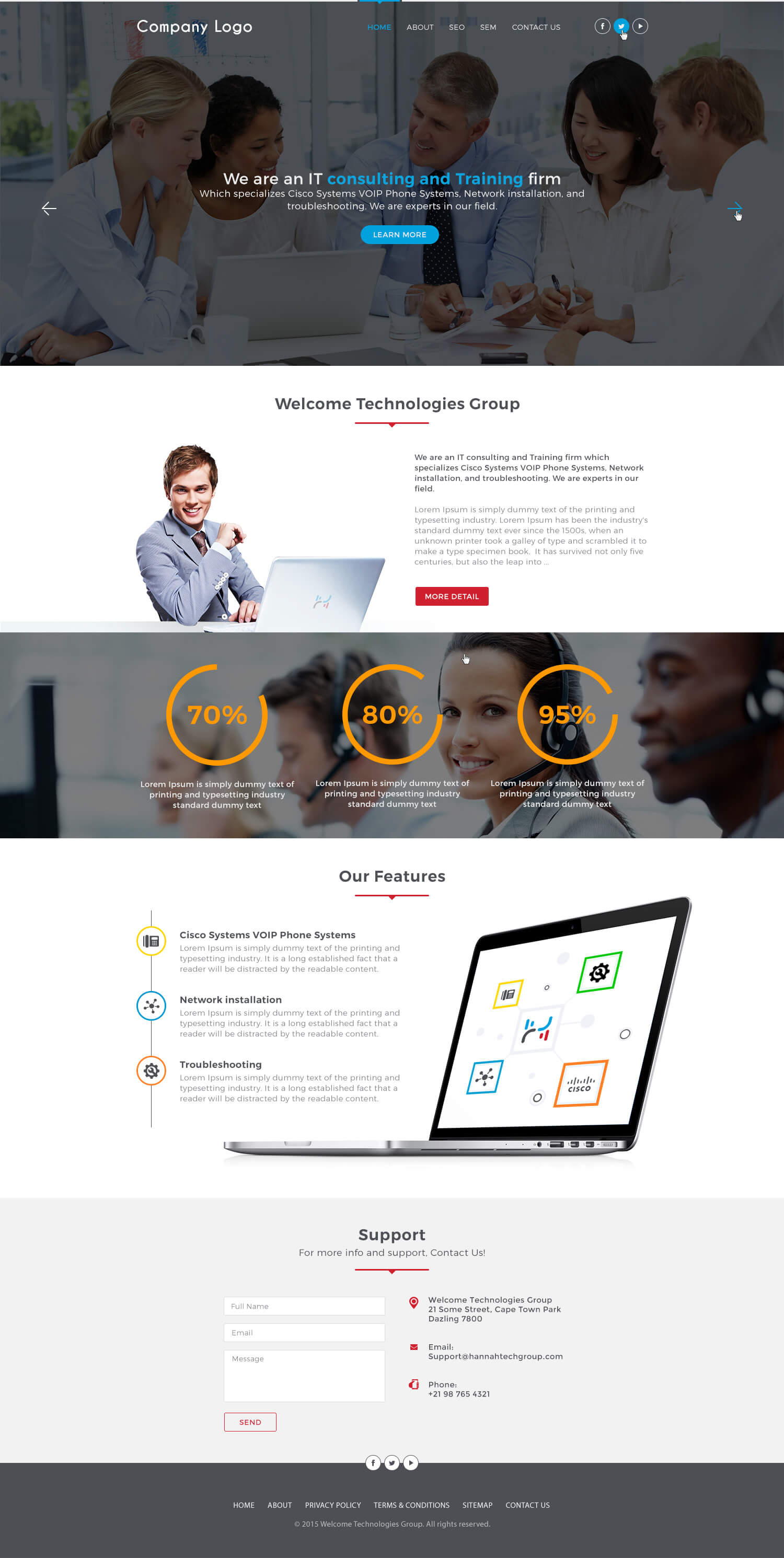 It consultant website template ved web services for Consulting website