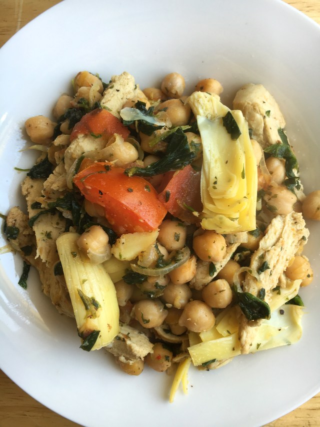 Warm Chickpea and Chicken Salad - V/GF
