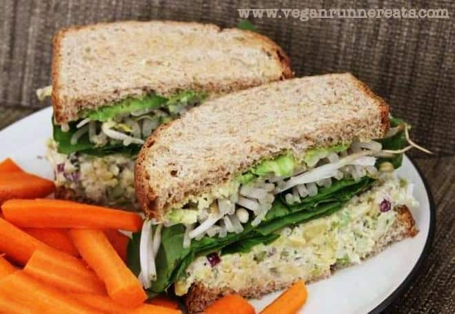 Chickpea Salad Sandwich - My Husband's Favorite Plant-Based Lunch