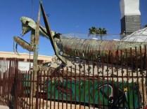 Praying mantis statue