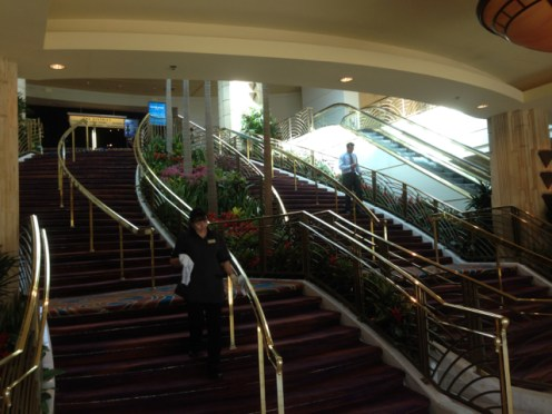 Stairs in the conference area of MGM Grand
