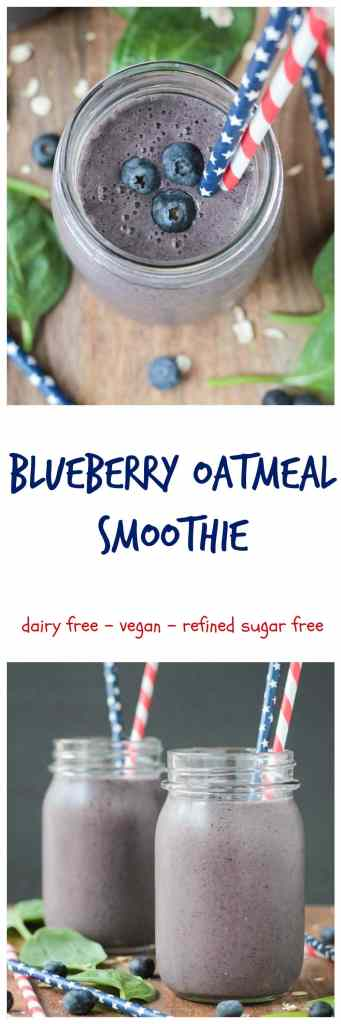 Blueberry Oatmeal Smoothie - all the fiber and staying power of a bowl ...