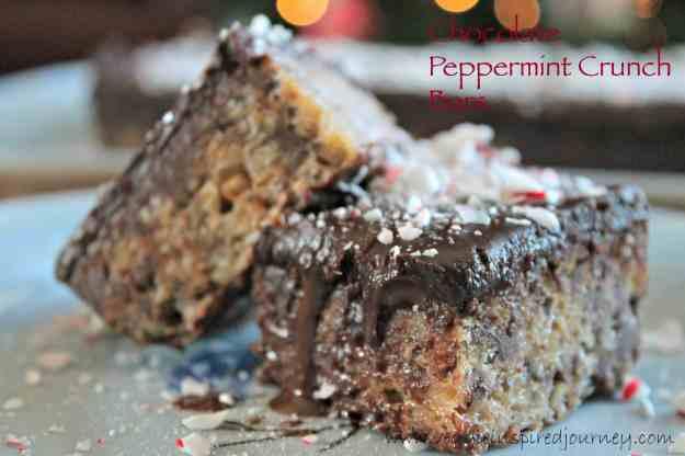 Chocolate Peppermint Crunch Bars